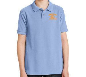 LIGHT BLUE YOUTH POLO Y500