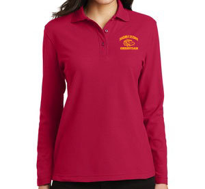 RED LADIES LONG SLEEVE POLO L500LS RED