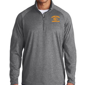 CHARCOLA GRAY HEATHER ST850 1/4 ZIP PULLOVER