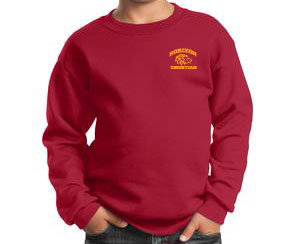 RED YOUTH CREW NECK SWEATSHIRT PC90Y RED