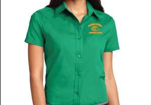 COURT GREEN LADY SHORT SLEEVE DRESS SHIRT L508 CG