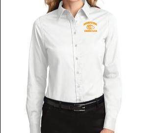WHITE LADIES DRESS SHIRT L608 WHT