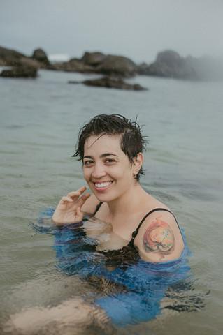 Ensaio feminino na praia