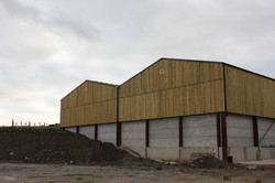 Twin span silage clamp