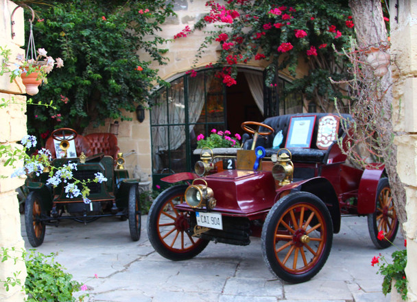 Malta's first ever registered cars on display