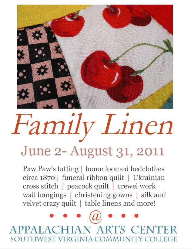 Heirloom Linens on display
