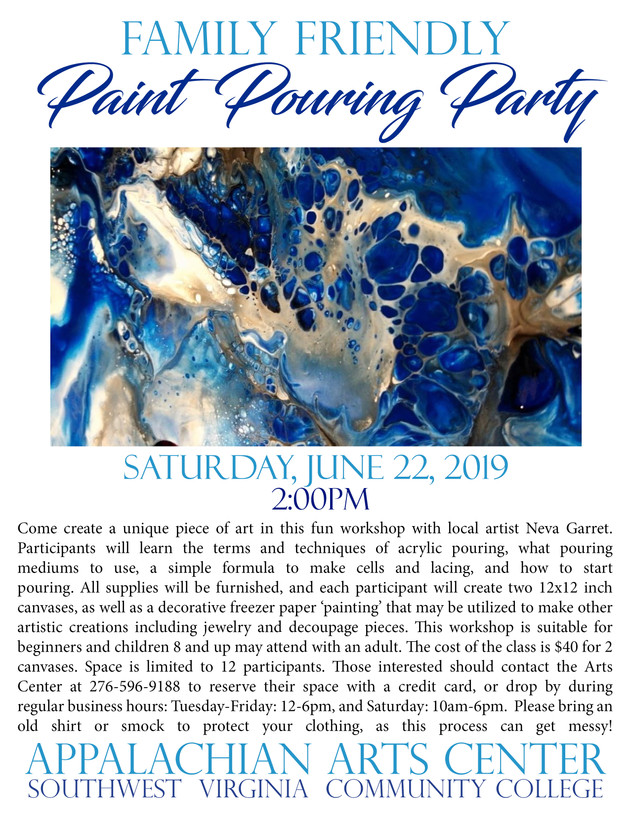 Family Friendly Paint Pouring Party
