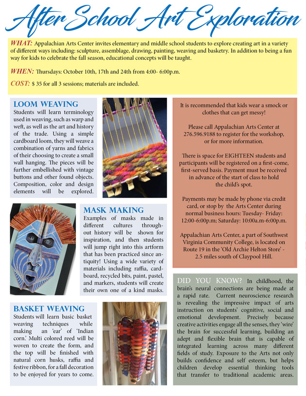 Afterschool art classes