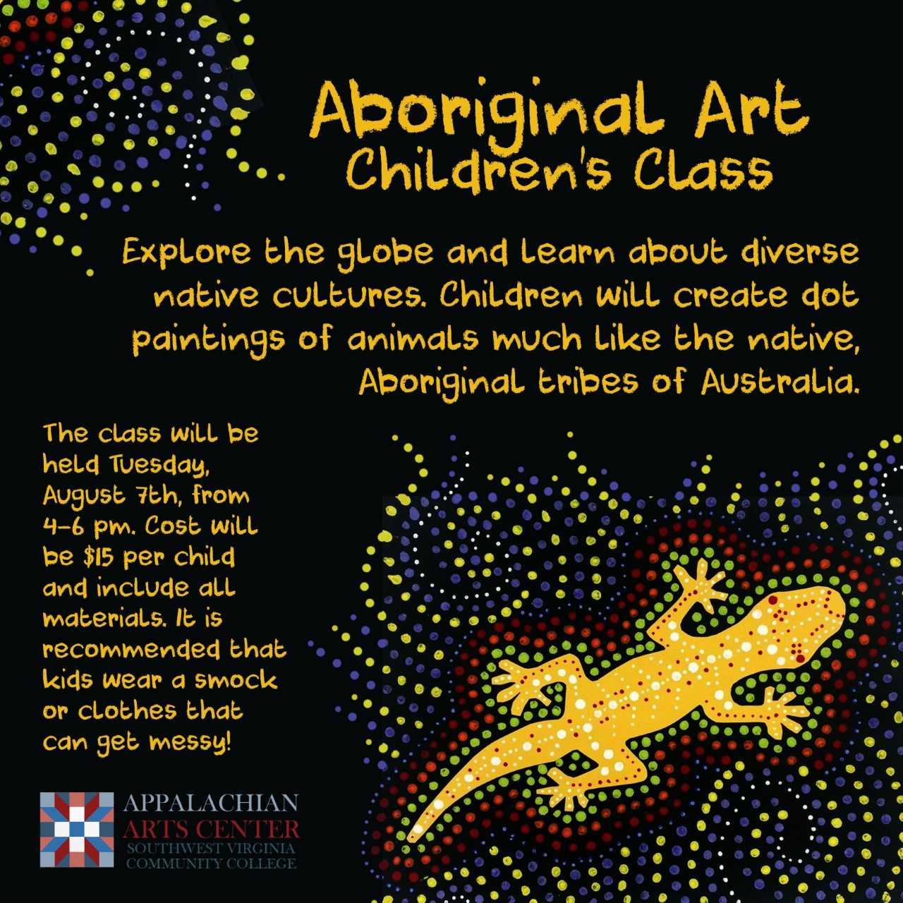 Aboriginal Art Class For Kids Appalachian Arts Center