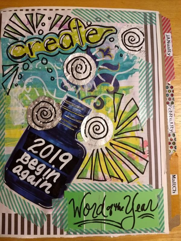 Start your New Year off with creativity, reflection, and community! Please join us on Thursday, January 10th from 5:30- 8:00pm for a 'wordcatcher' workshop with Carolyn Koesters. In this workshop, participants will create a one-of -a -kind handmade personal journal in which to explore, focus on, and celebrate a chosen word for 2019. Carolyn will guide participants with thoughtful prompts and exercises. New art journaling techniques will be demonstrated, and a variety of different papers and materials including stamps, metallic markers, watercolors, paint, stickers and more will be on hand to experiment with. To learn more about Carolyn, visit her website at : www.wordcatching.com.  Participants may also choose to receive additional monthly email prompts throughout the year to invite reconnection to the journal, create a small online community through Facebook, and capture how the chosen word reveals itself throughout the year. There is also potential for a 6-month in person check-in over the summer to see how your journal has progressed! This class is suitable for all levels, ages 12 and over. The cost is $35 and includes all materials. There is room for 20 participants in the class. Those interested in registering for the workshop should contact the Art Center at 276-596-9188, and pay via credit card, or stop by the Arts Center during regular business hours Tuesday- Friday: 12-6pm; and Saturday: 10am-6pm.