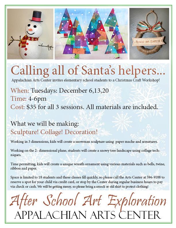 Christmas Craft workshops for kids