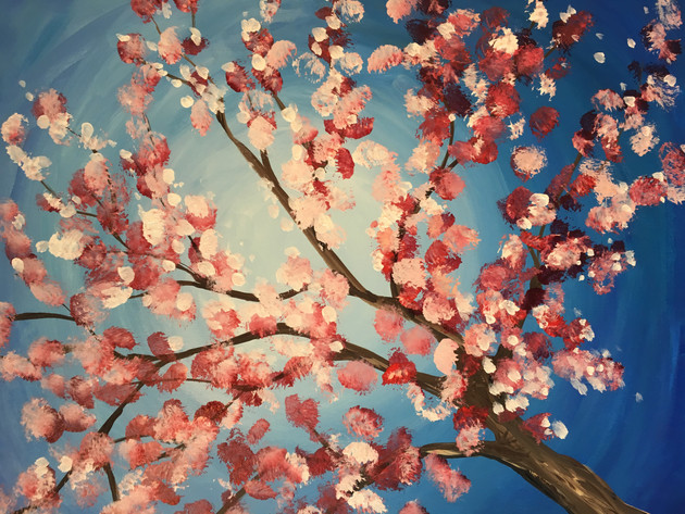 Spring Blossom Painting Party