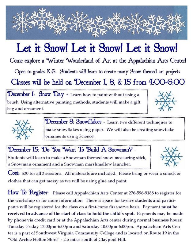 Winter craft class for kids