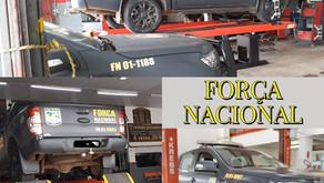 MANUTENÇÃO NOS CARRO DA FORÇA NACIONAL.