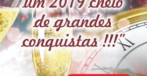 Feliz Ano novo a todos, 2019 de muitas realizações !!!!