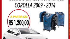 TROQUE ÓLEO DO CÂMBIO AUTOMÁTICO DO COROLLA 2009-2014..