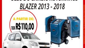 Troque o óleo do câmbio automático da Blazer 2013-2018..