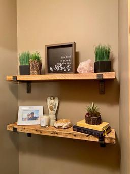 Reclaimed fir - supported shelf - natura