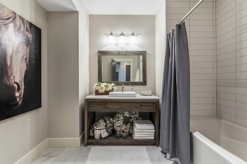 Grey Vanity With Waterfall Legs