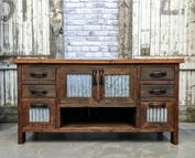 Wood and Tin Vanity