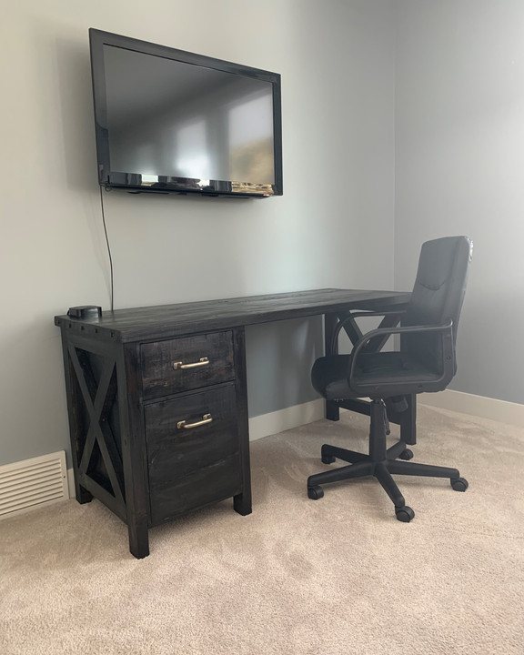 Desk -Custom Black with X