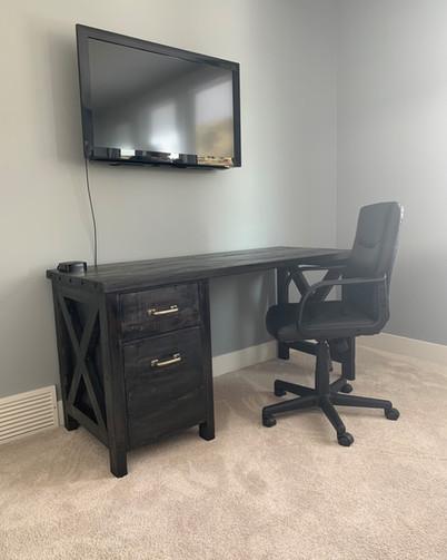 Desk -Custom Black with X