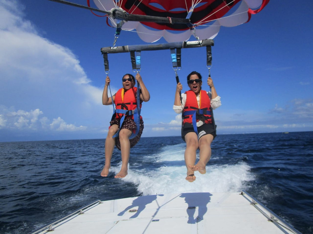 Photo taken at Tanjung water sports on women travel group arranged in February 2020