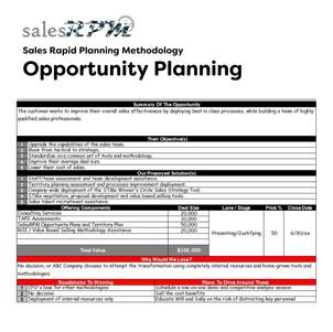 Custom Opportunity Plan Development