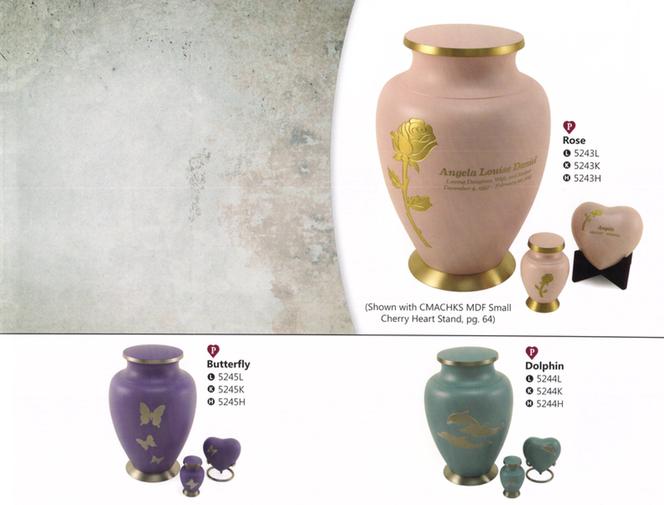 Large Urn-$295     Heart-$95     Keepsake Urn-$50