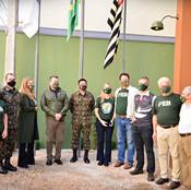 Visita do General Hiroshi à sede da AExpCamp