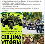 """Fotos do evento """"Coluna da Vitória"""", com a descrição do percurso executado pela CVMAISP, em comemoração aos 76 anos do fim da II Grande Guerra Mundial."""