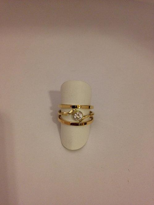 Geel gouden ring