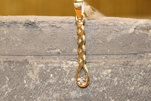 Geel gouden hanger met steentje