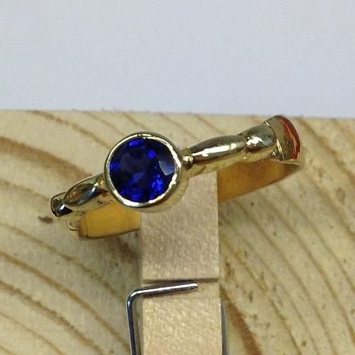 Geel gouden ring met steen