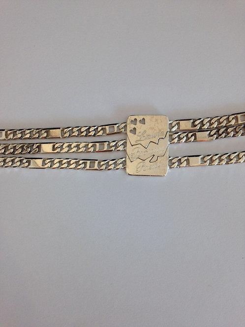 Zilveren armband gemaakt uit oude hanger