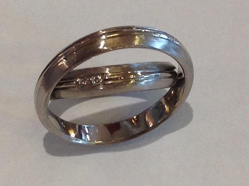 Wit gouden ringen met diamantjes