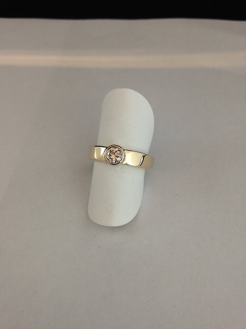 Zilveren ring met steen