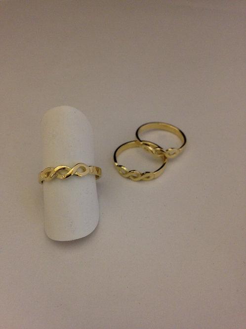 Ringen van oud goud infinity teken