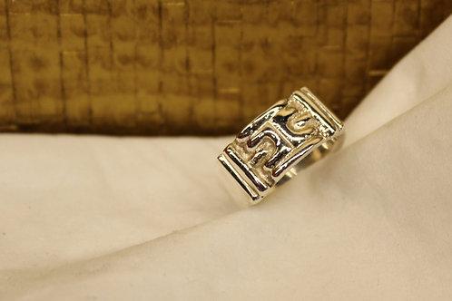 Zilveren ring van armband schakel