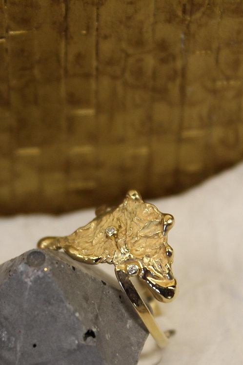 Geel gouden ring met diamant