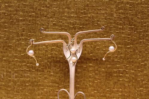 Geel gouden set met parels