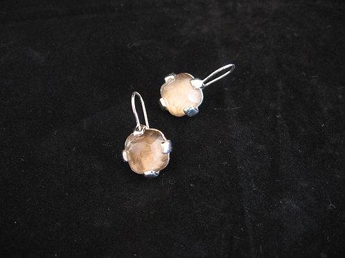 Zilveren oorbellen met steentjes