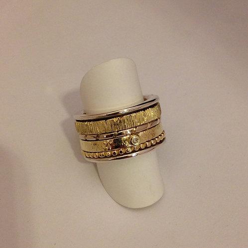 Ring van oud goud en zilver