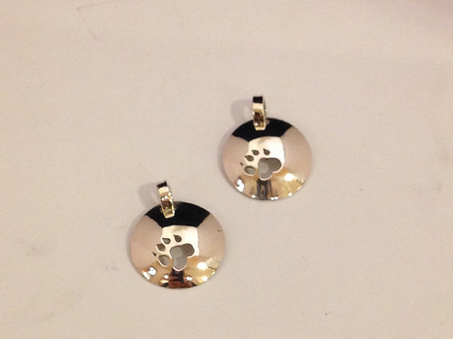 Zilveren hangers met poot uitgezaagd
