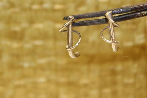 Wit gouden oorbellen