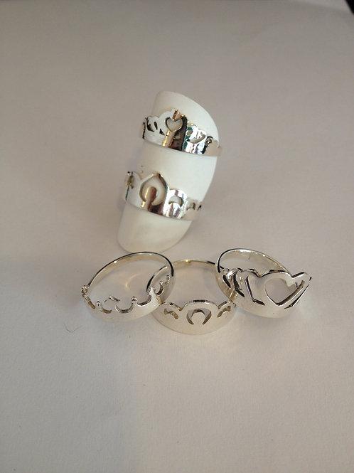 Zilveren ringetjes