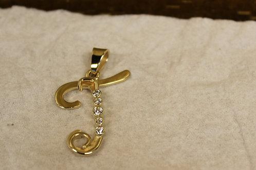 Gouden hanger met zirconia's