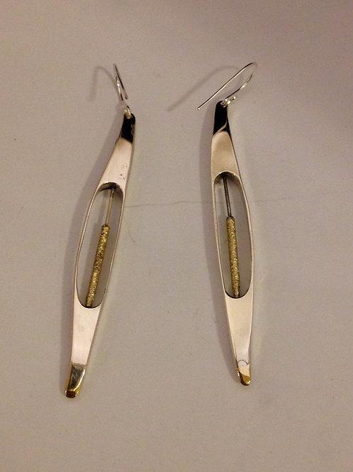 Zilver met gouden hangers