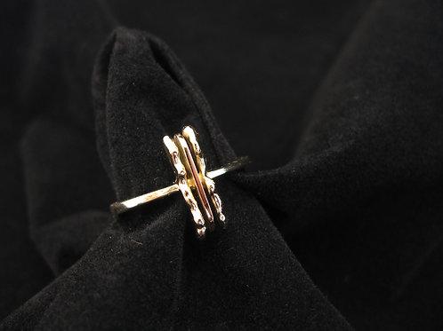 Geel en rose gouden ring