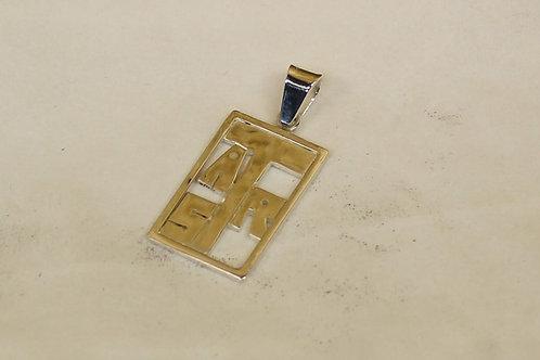Zilveren hanger met initialen